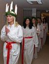 Lucia på Sannagården i Tvååker